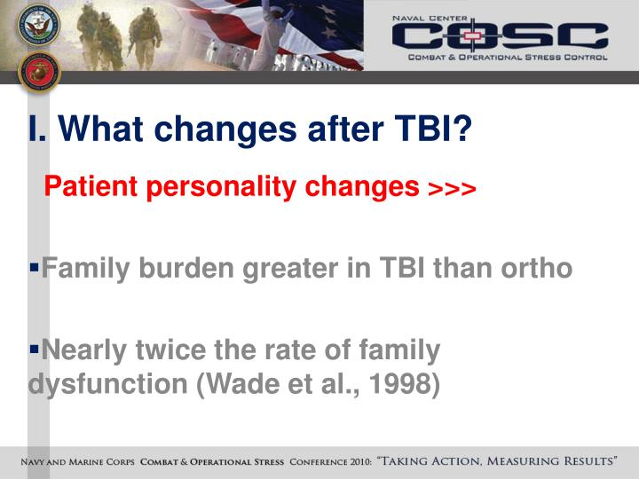 I. What changes after TBI?