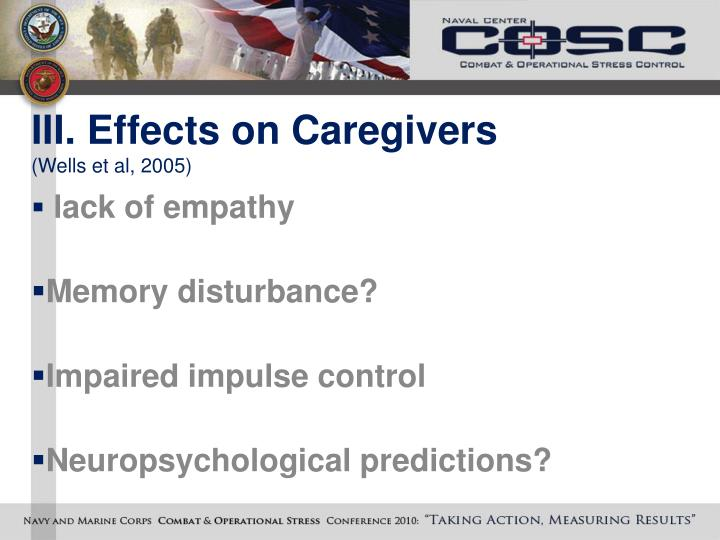 III. Effects on Caregivers