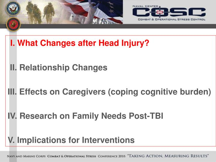 I. What Changes after Head Injury?