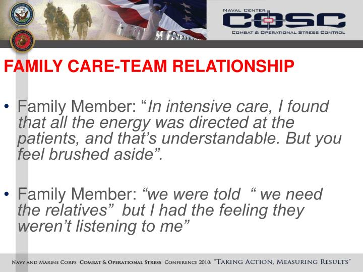 FAMILY CARE-TEAM RELATIONSHIP