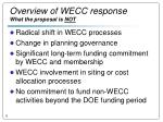 overview of wecc response what the proposal is not