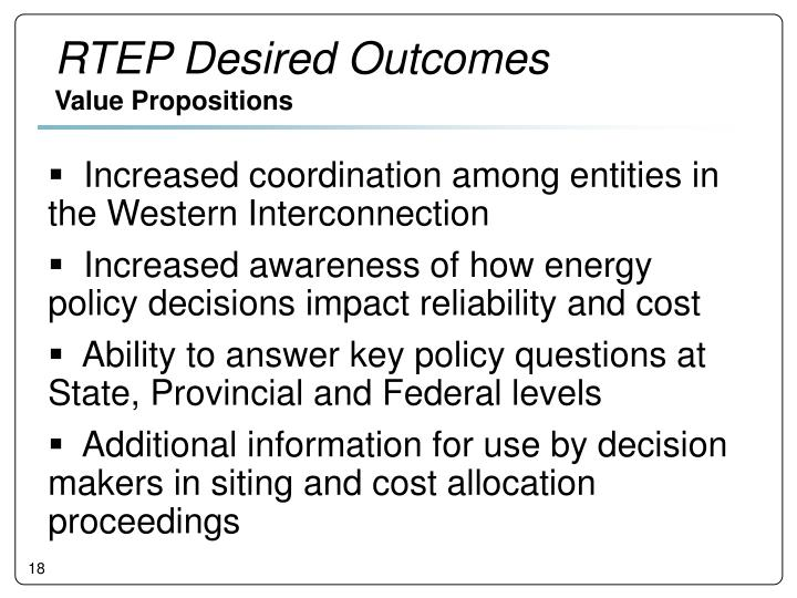 RTEP Desired Outcomes
