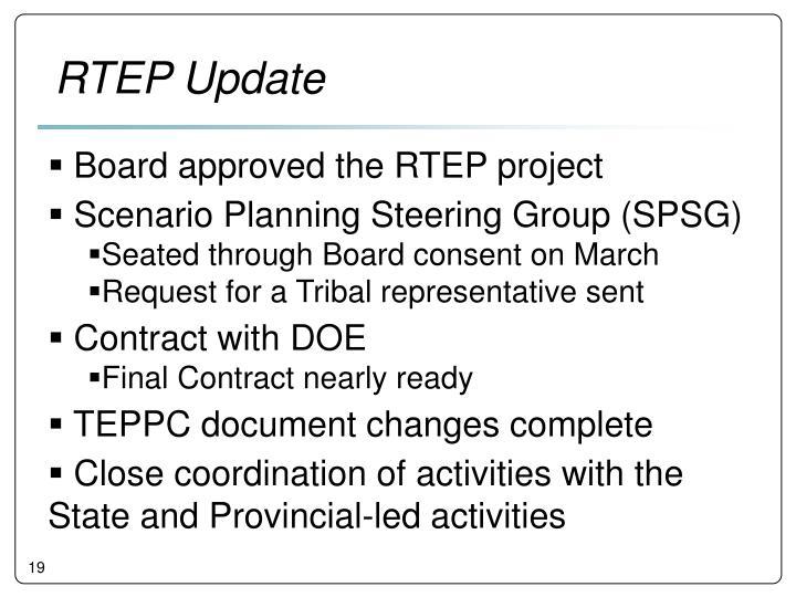 RTEP Update