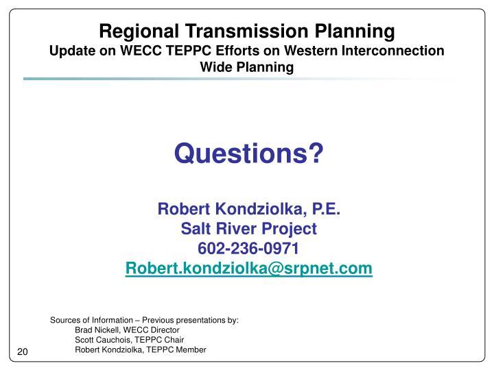 Regional Transmission Planning