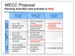 wecc proposal planning activities new activities in red