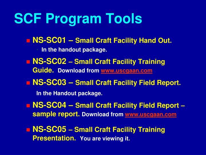 SCF Program Tools
