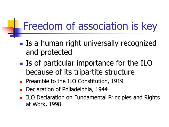Freedom of association is key