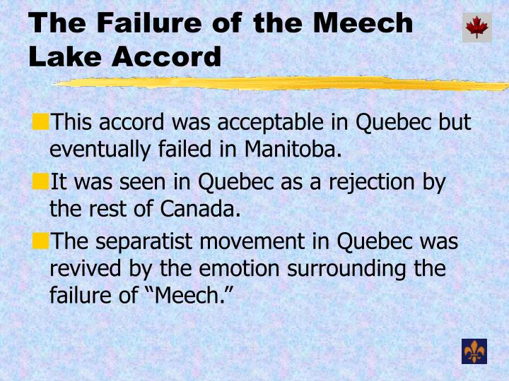 The Failure of the Meech Lake Accord