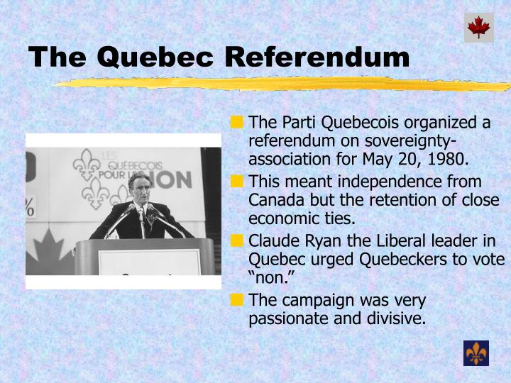 The Quebec Referendum