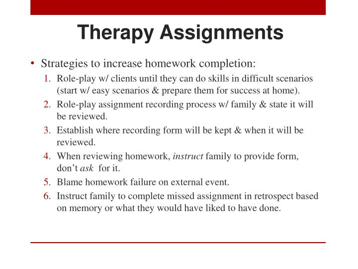 Therapy Assignments