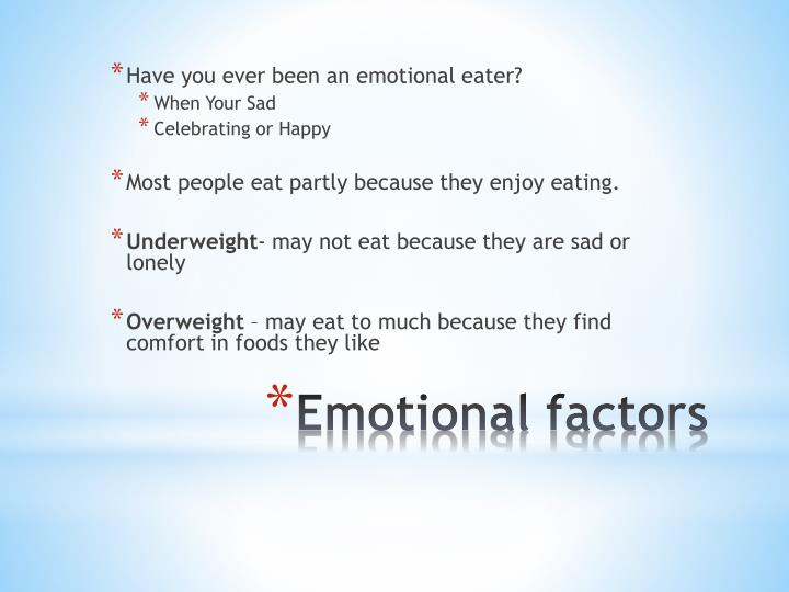 Have you ever been an emotional eater?