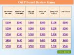 o p board review game