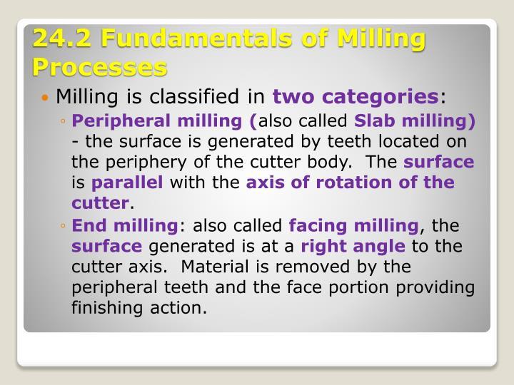 Milling is classified in