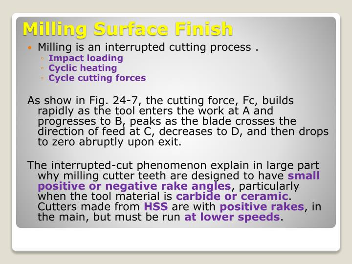 Milling is an interrupted cutting process .