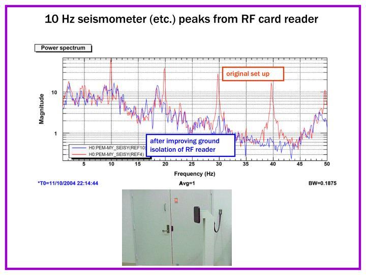 10 Hz seismometer (etc.) peaks from RF card reader