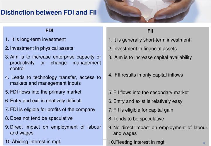 Distinction between FDI and FII