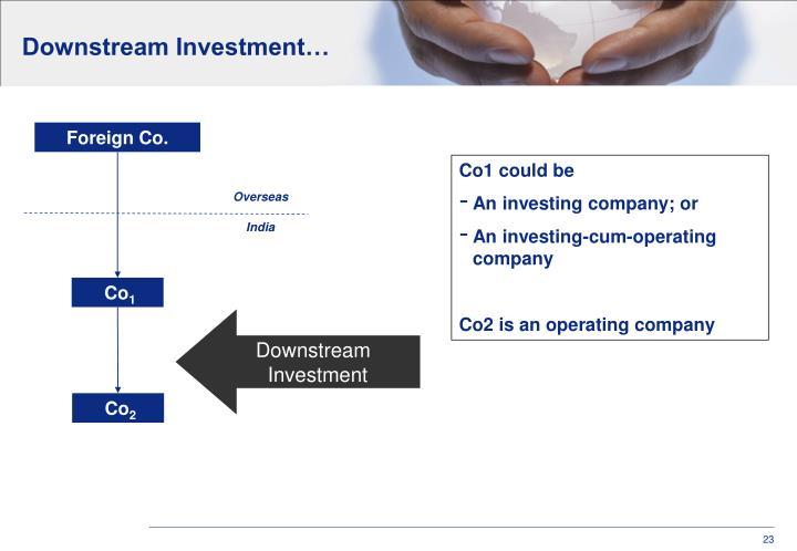 Downstream Investment…