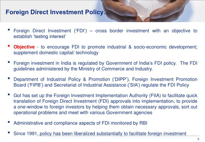 Foreign Direct Investment Policy…