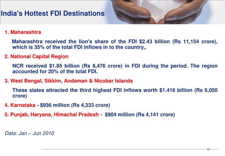 India's Hottest FDI Destinations