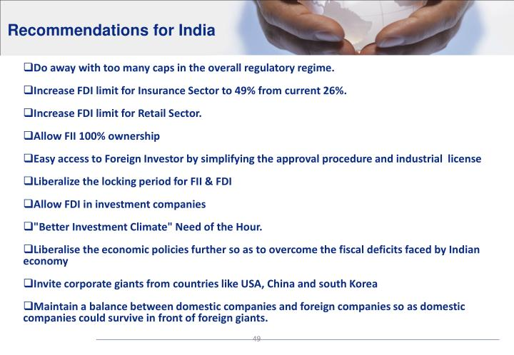 Recommendations for India