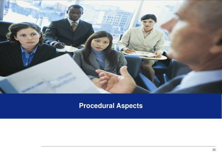 Procedural Aspects