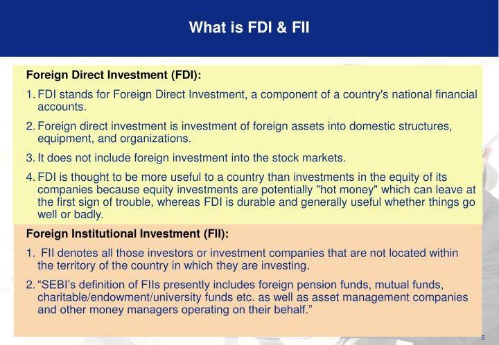 What is FDI & FII