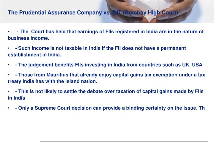 The Prudential Assurance Company vs. DIT (Bombay High Court)