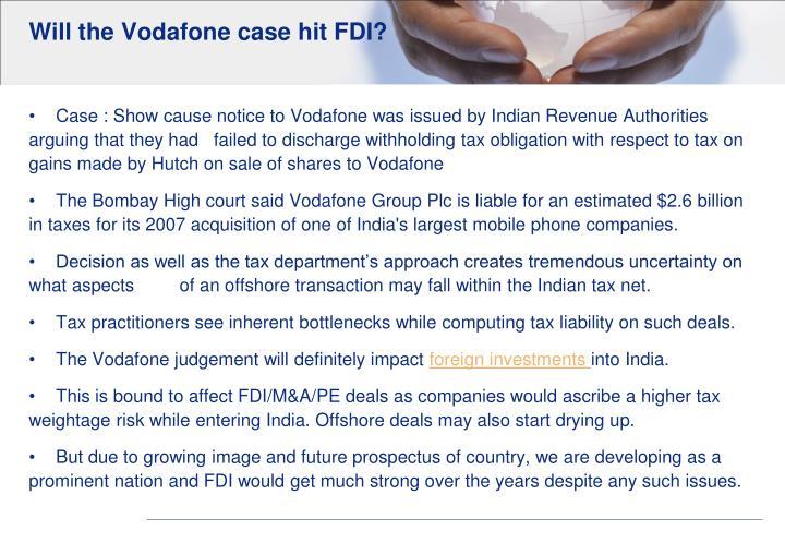 Will the Vodafone case hit FDI?
