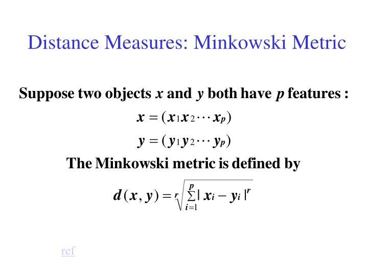 Distance Measures: Minkowski Metric