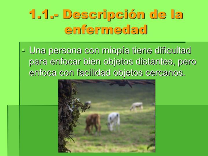1.1.- Descripción de la enfermedad