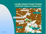 locally unique forest context usgs gap analysis for biodiversity