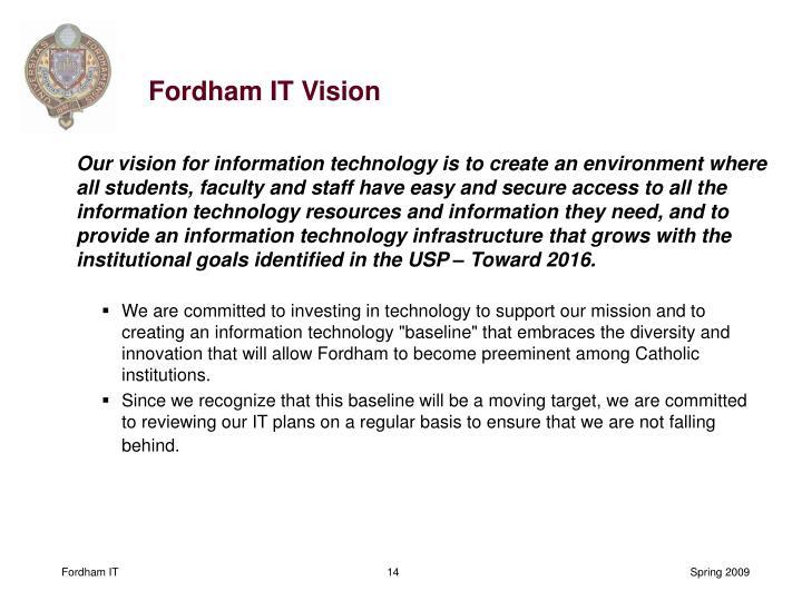 Fordham IT Vision