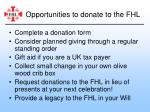 opportunities to donate to the fhl