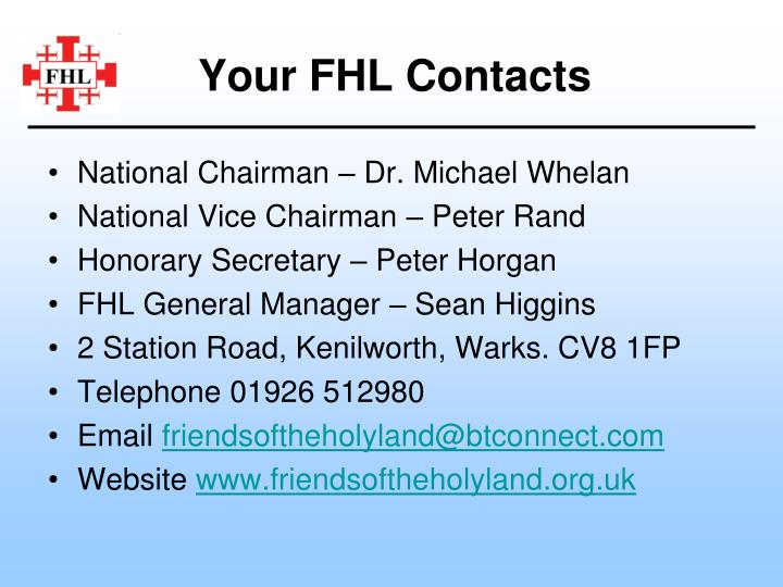 Your FHL Contacts