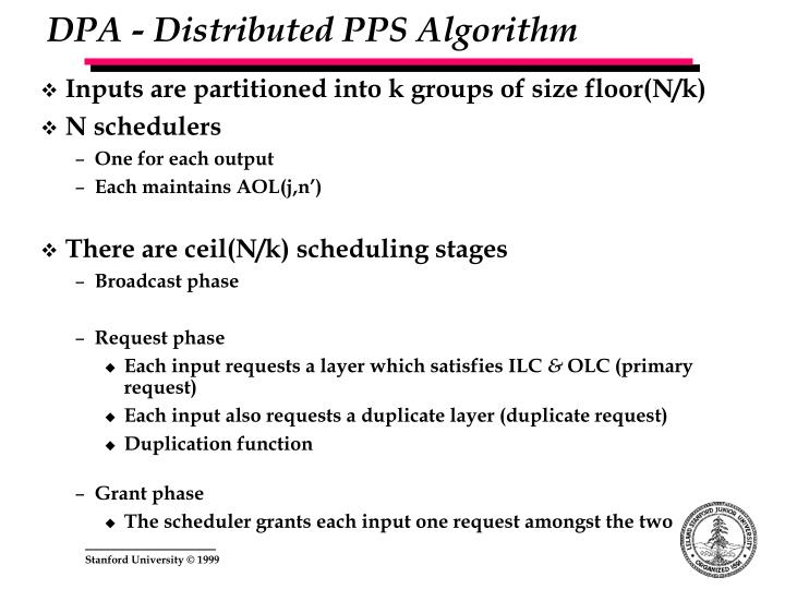 DPA - Distributed PPS Algorithm