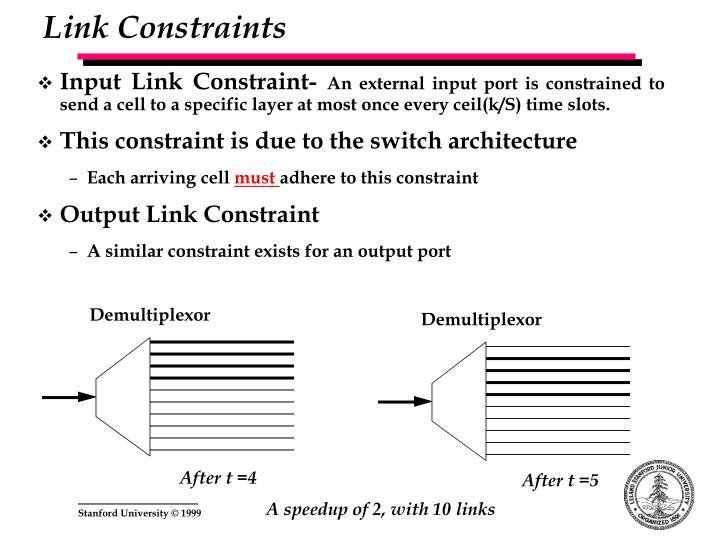 Link Constraints