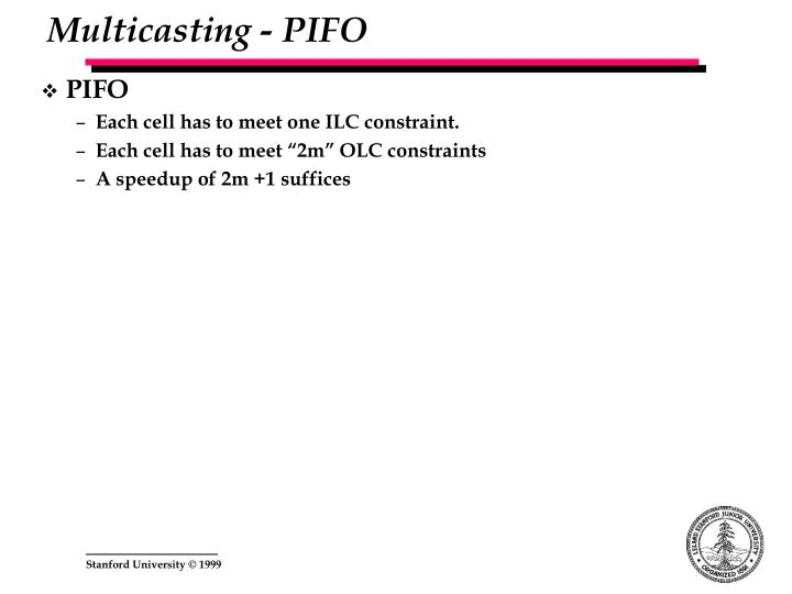 Multicasting - PIFO