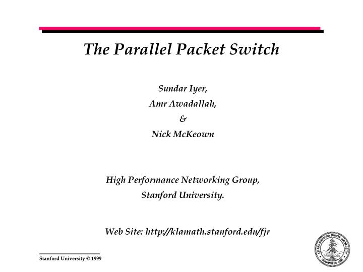 The Parallel Packet Switch