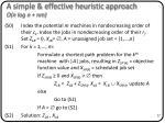 a simple effective heuristic approach o n log n nm