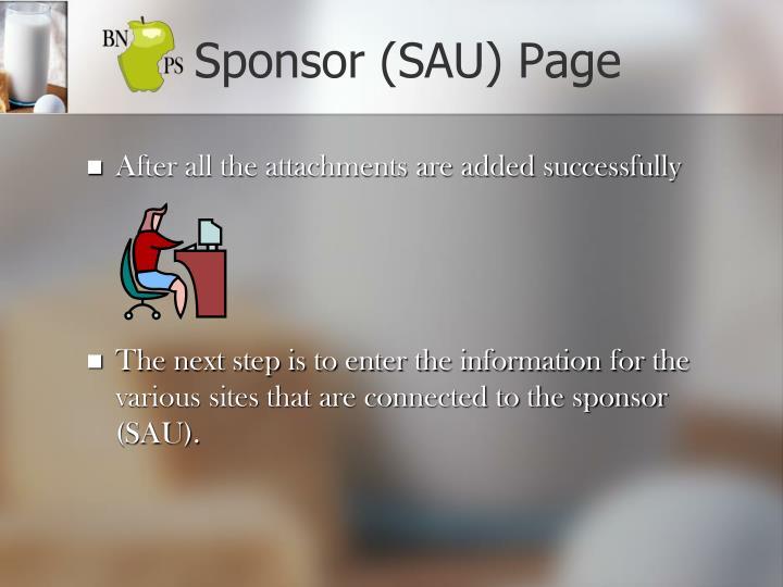 Sponsor (SAU) Page