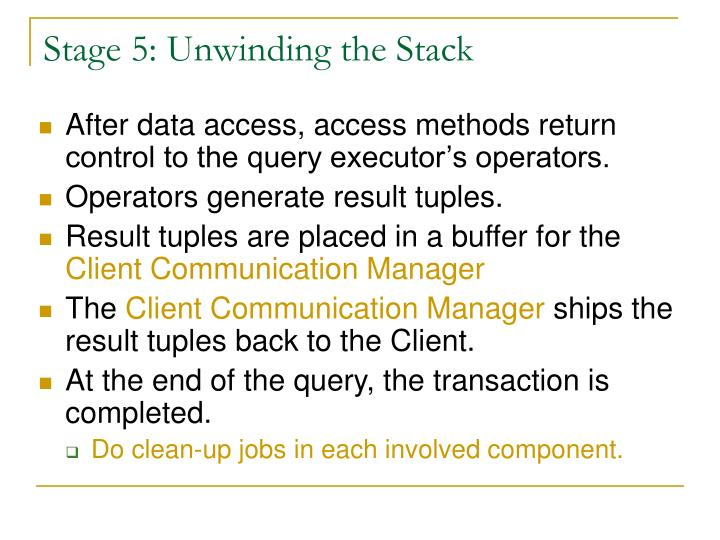 Stage 5: Unwinding the Stack