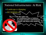 national infrastructures at risk