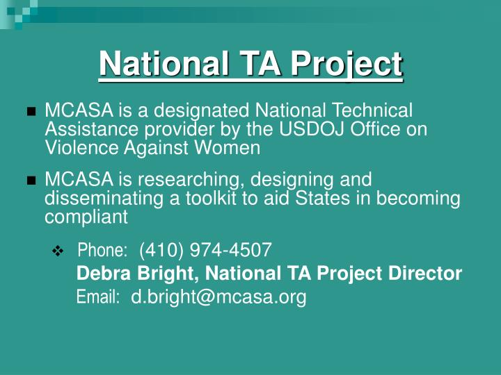 National TA Project