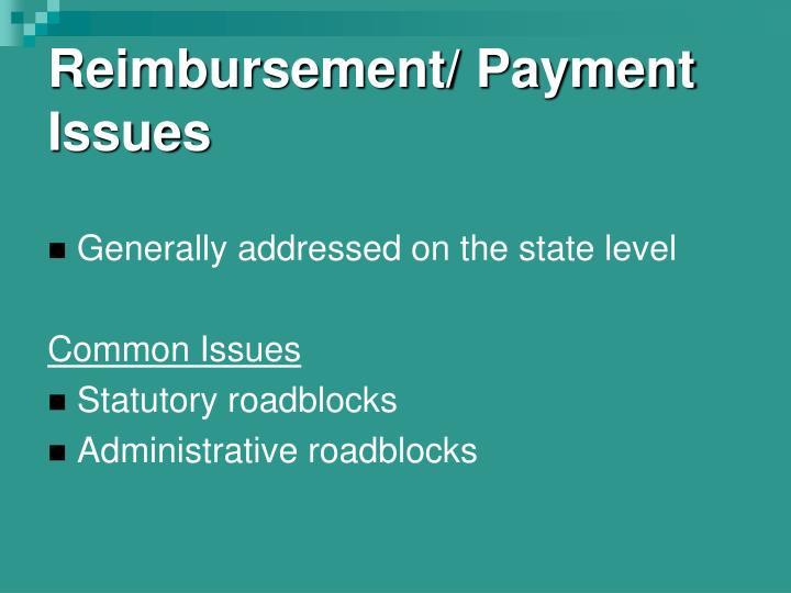 Reimbursement/ Payment Issues