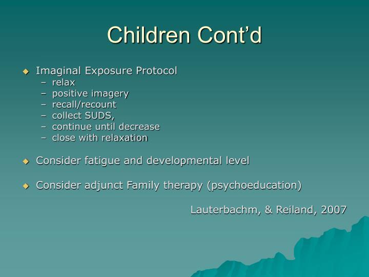 Children Cont'd