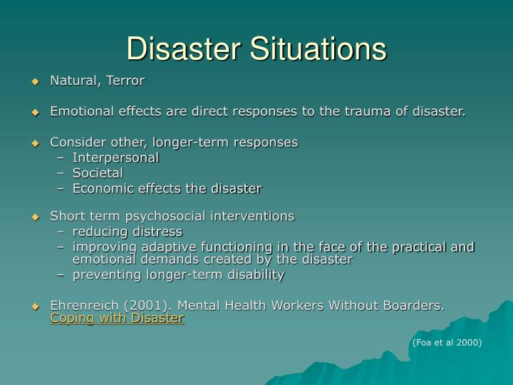 Disaster Situations