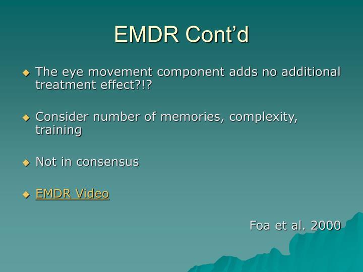 EMDR Cont'd