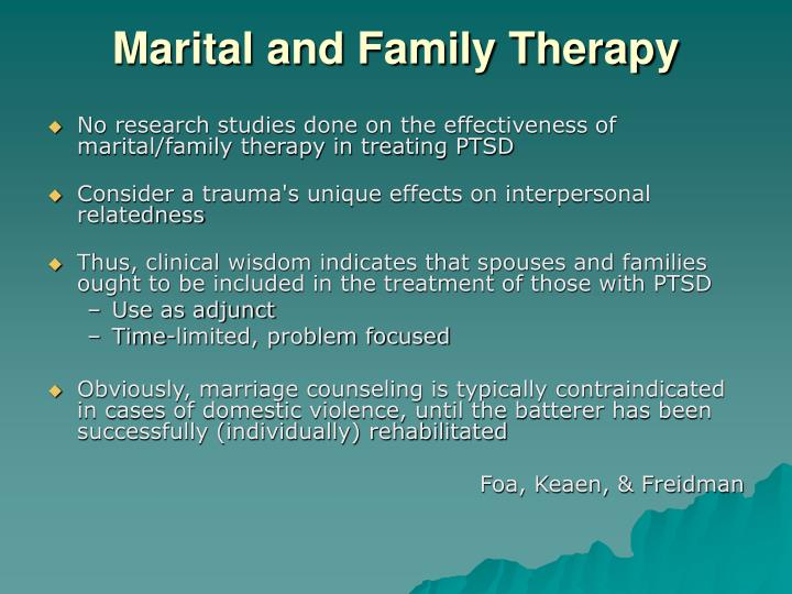 Marital and Family Therapy