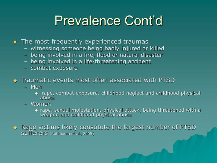 Prevalence Cont'd