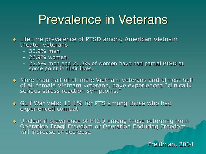 Prevalence in Veterans